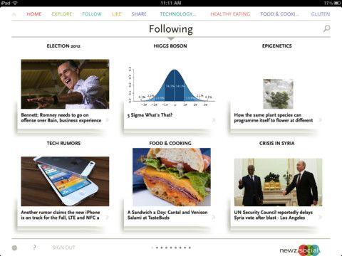 socially curated news