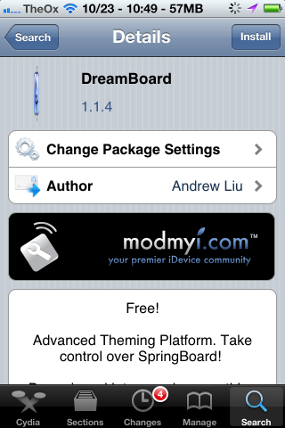 iphone dreamboard