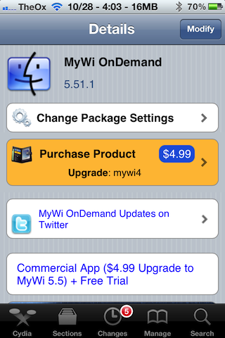 tether mywi iphone