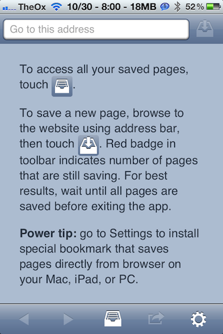 Offline Pages Pro Lets You View Websites Without Internet [iOS, Free For Limited Time] 2012 10 30 20