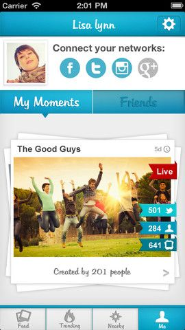 Moment.me: Collects & Organizes Pics,Videos & Tweets From a Single Event 21