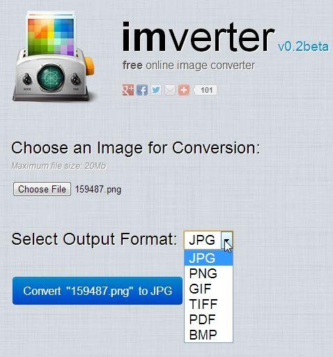 change file format images