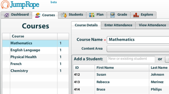 JumpRope   JumpRope: A Tool For Teachers To Keep A Record Of Classes Student Grades