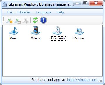 manage libraries windows