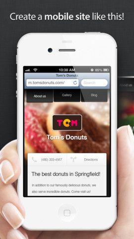 create mobile site iphone