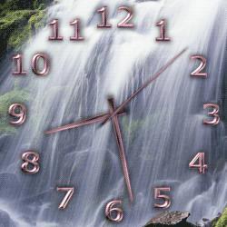 transparent clock desktop