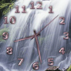 transparent clock desktop