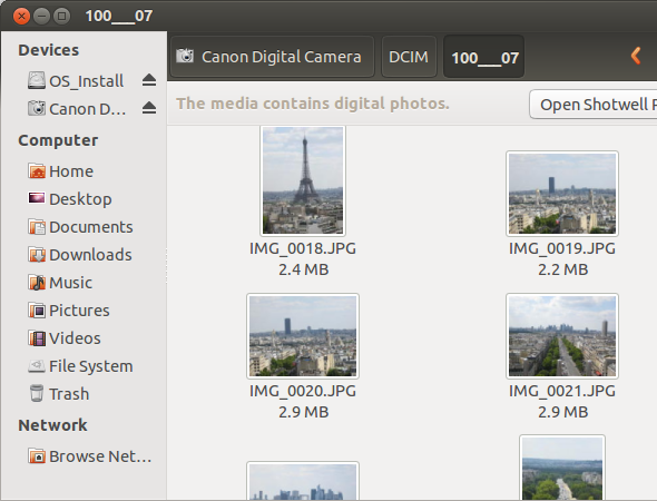 digital camera linux