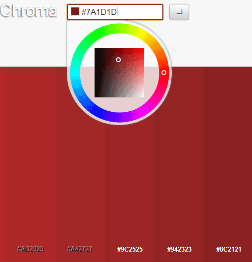 chroma   Chroma: An App That Shows You All Shades Of Colors [Chrome]