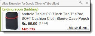 chrome ebay add on