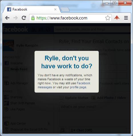 restrict facebook usage