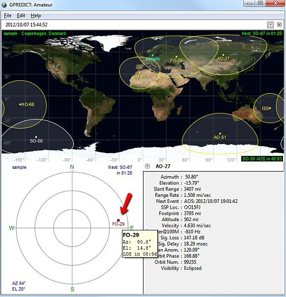 predict satellite software