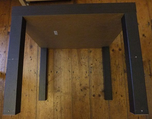 How To Build A Cheap Standing Desk From Ikea, And What It's Like To Use ikea standing desk holes