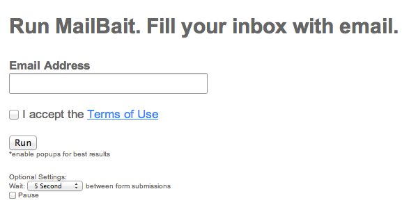 junk email testing