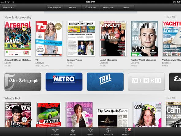 magazines on ipad