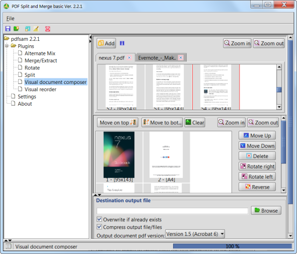 organize pdf pages