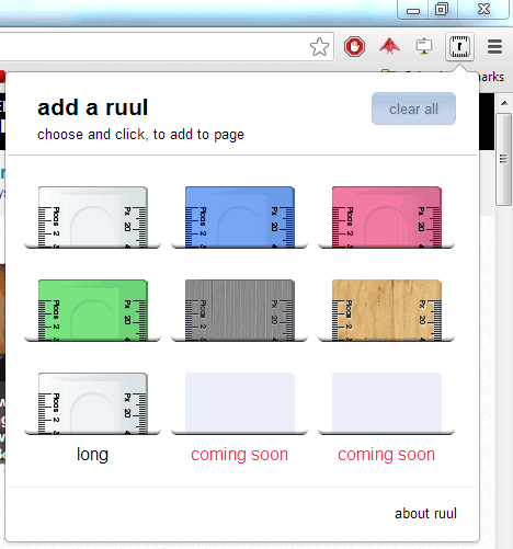 ruul   Ruul: A Screen Ruler Built Into Google Chrome