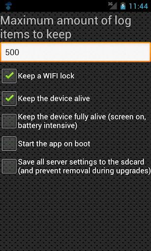 servers ultimate1   Servers Ultimate: Run Your Own Free 15 Different Types Of Servers [Android 2.1+]