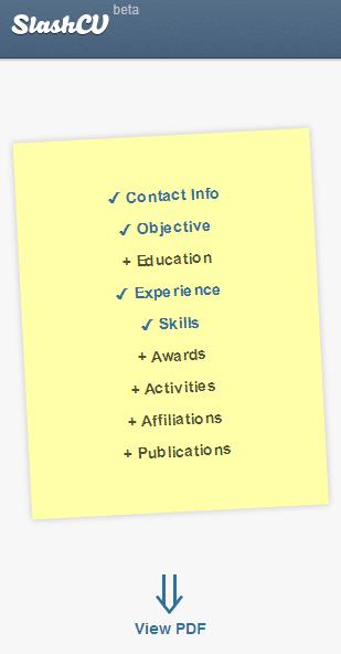 splashcv   SlashCV: Easily Create Your CV Online & Download It As a PDF