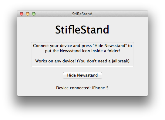 hide ios newsstand