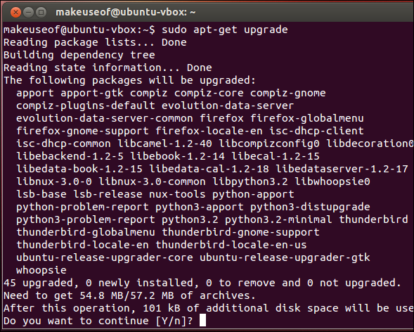 updating ubuntu