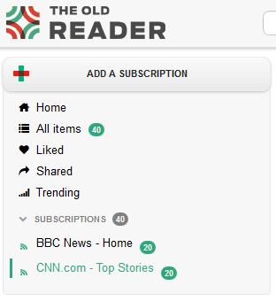 rss reader like google reader