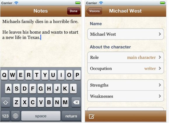 iphone writing applications