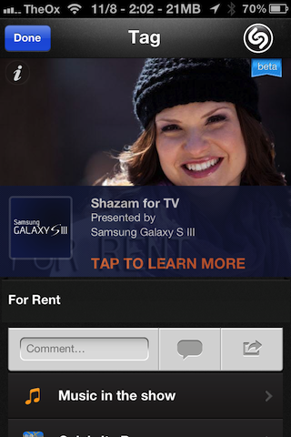 shazam app for iphone