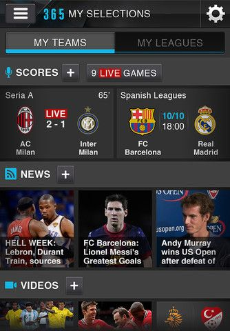 up to date sports scores