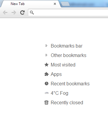 humble new tab page