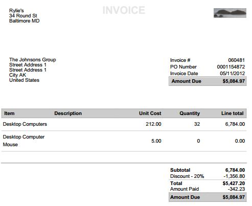 create manage invoices