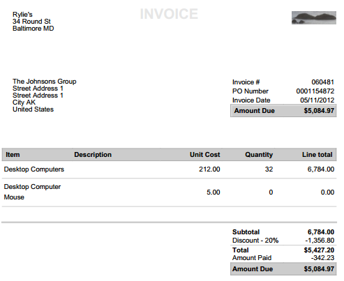 create manage invoices