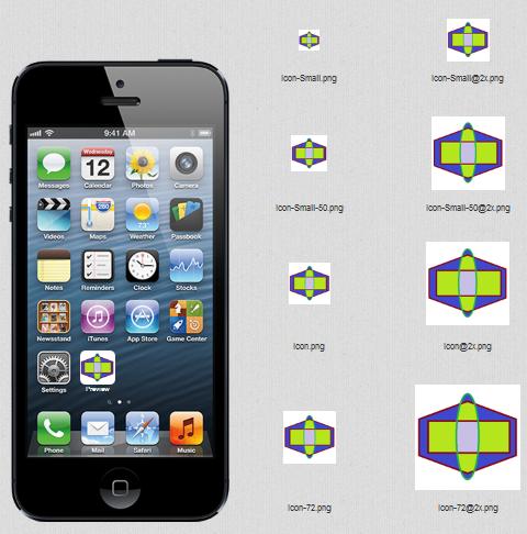 resize app icons