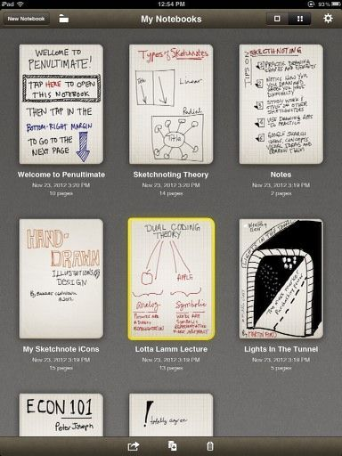 Learn How To Sketchnote With The Penultimate App For The iPad Penultimate notebooks