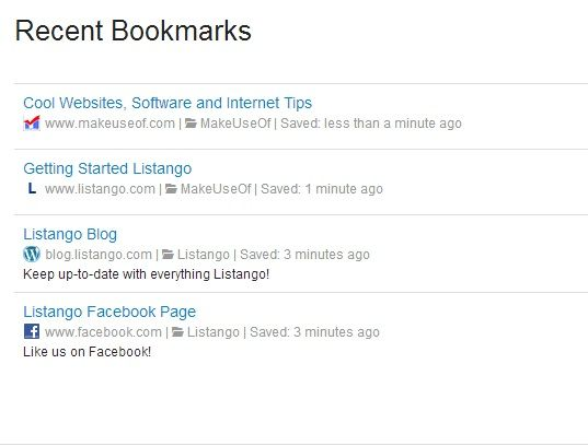 REcent   Listango: Save Bookmarks Online For Easy Organization & Accessibility