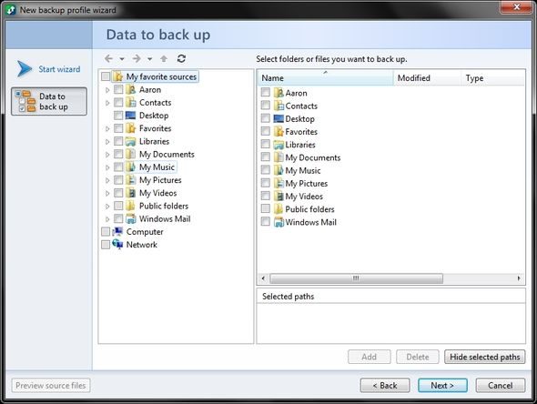 Automatically Backup, Sync & Restore Your Windows Files With @MAX SyncUp [Rewards] Select Data to Backup