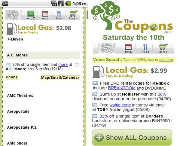 Tis The Season: 8 Great Shopping Apps android shopping the coupon app