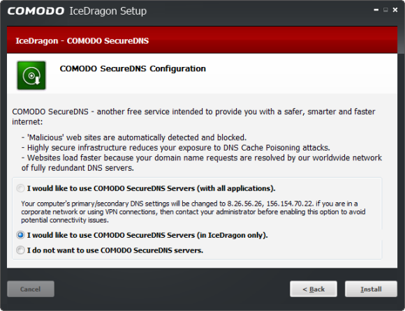 Comodo IceDragon Combines Comodo Internet Security With