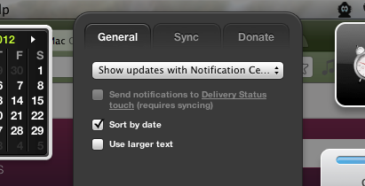 mac delivery status app