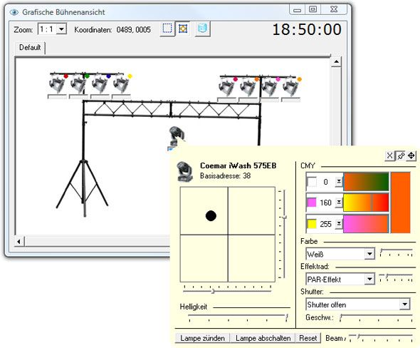free dmx lighting software
