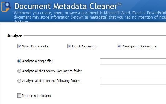 remove metadata from document