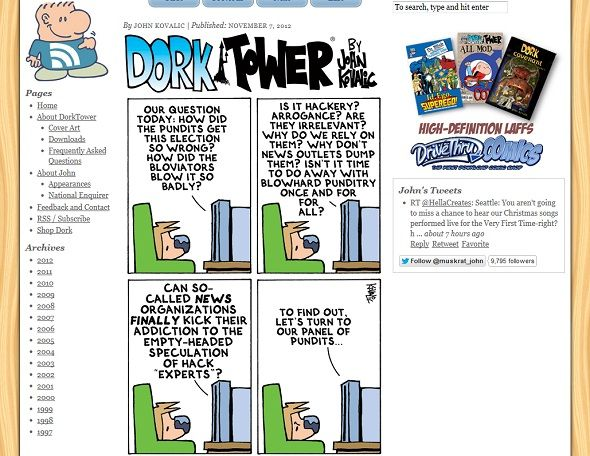 10 Awesome Webcomics Drawn Just for Geeks dork tower screenshot