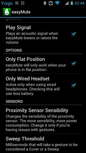 easymute 2   Easymute: Mute Volume Of Music By Putting Your Hand Over Your Phone (Android)