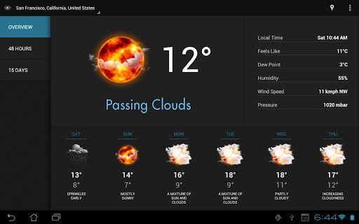 cool weather app android