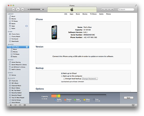 Is Your New iPhone Paired To Another iTunes Library? Don't Freak Out Yet itunes full