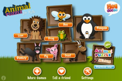 animal puzzle iphone