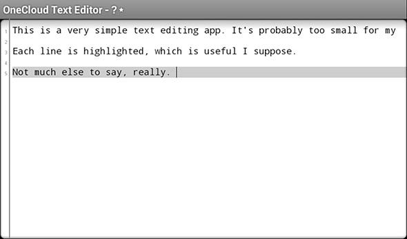 onecloud main   OneCloud Text Editor: Simple Text Editor That Saves To Box [Android]