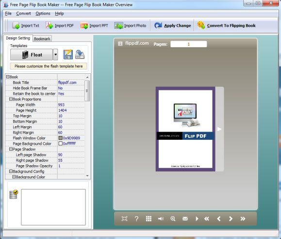 convert pdf to flash books