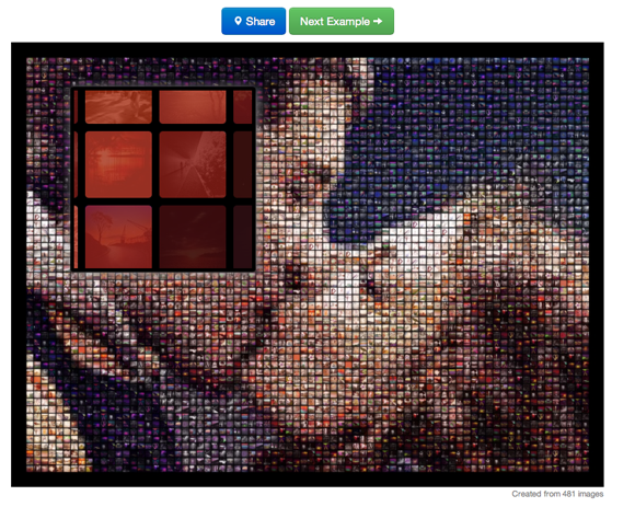 create mosaic from pictures
