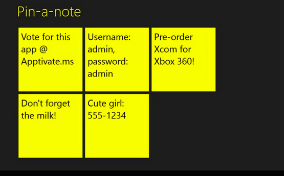 pinanote1   Pin a note: Pin Notes Directly To The Start Screen [Windows 8]